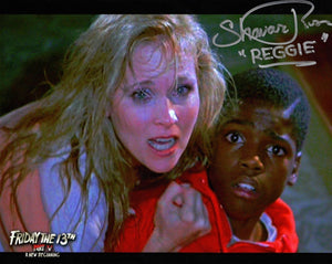 "Shavar Ross Signed Friday the 13th Part 5 ""With Pam - Melanie Kinnaman"""