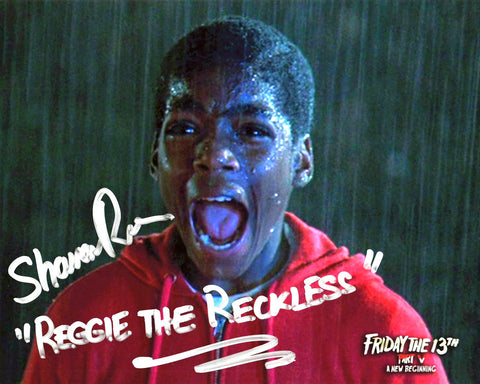 "Shavar Ross Signed Friday the 13th Part 5 ""Reggie Screams at Jason"""