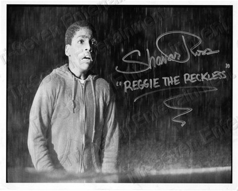 "Shavar Ross Signed Friday the 13th Part 5 ""Reggie Screaming"" B&W Autographed Photo"
