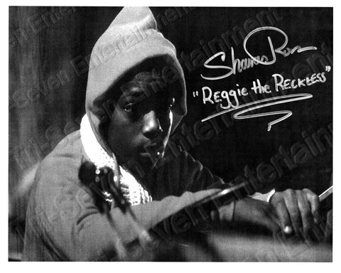 "Shavar Ross Signed Friday the 13th Part 5 ""Reggie On Tractor"" B&W Autographed Photo"