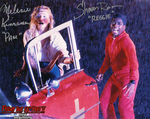"Melanie Kinnaman & Shavar Ross Hand-Signed Friday the 13th Part 5 Color Photo - ""Pam & Reggie Scream"""