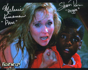 "Melanie Kinnaman & Shavar Ross Hand-Signed Friday the 13th Part 5 Color Photo - ""Jason at Door"""