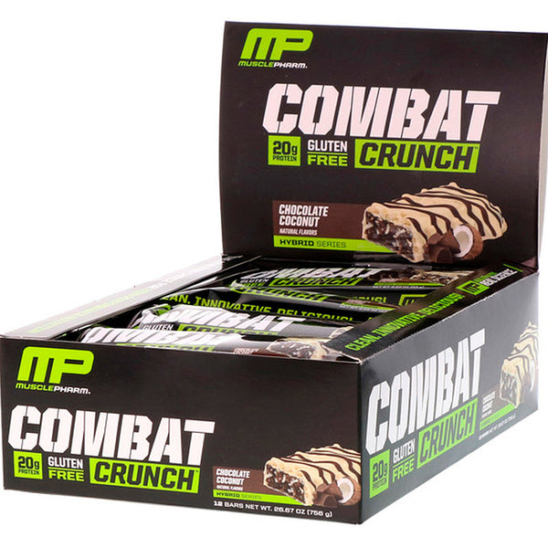 MusclePharm Combat Crunch Bar- 12 Bars