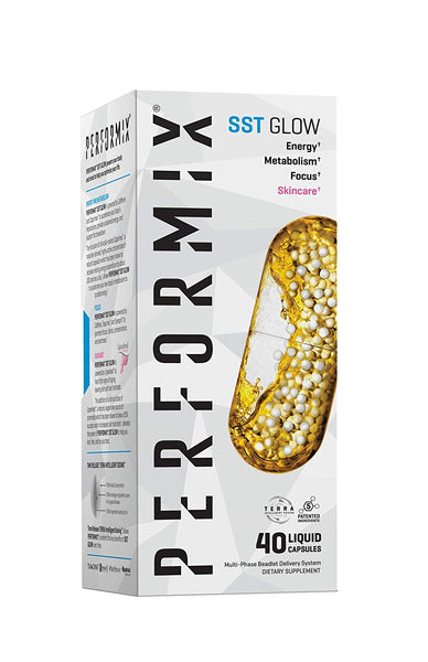 Performix SST Glow with Capsimax, Energy, Metabolism, Focus, Skincare, 40 Capsules