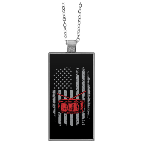 American Snare Drum Necklace
