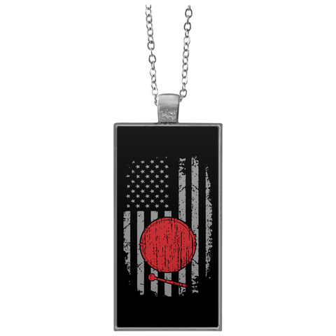 American Bass Drum Necklace