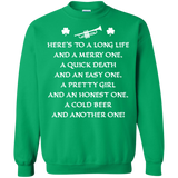St. Patrick's Day Toast Trumpet Long Sleeve/Sweatshirt 2017