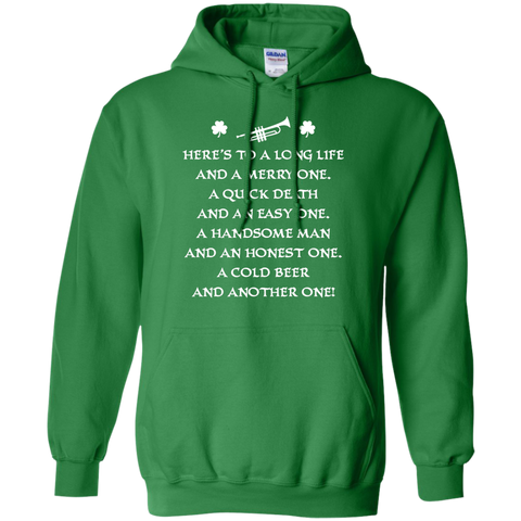 St. Patrick's Day Toast Trumpet Hoodie For Women
