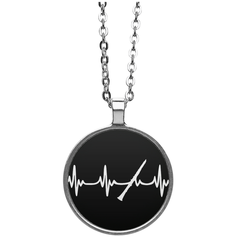 Clarinet Heartbeat Necklace