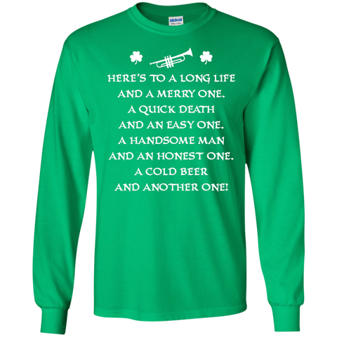 St. Patrick's Day Toast Trumpet Long Sleeve/Sweatshirt For Women