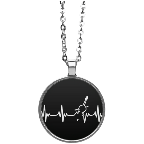 Double Bass Heartbeat Necklace