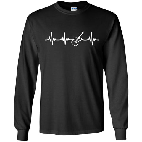 Acoustic Guitar Heartbeat Long Sleeve/Sweatshirt - MainTune - 1