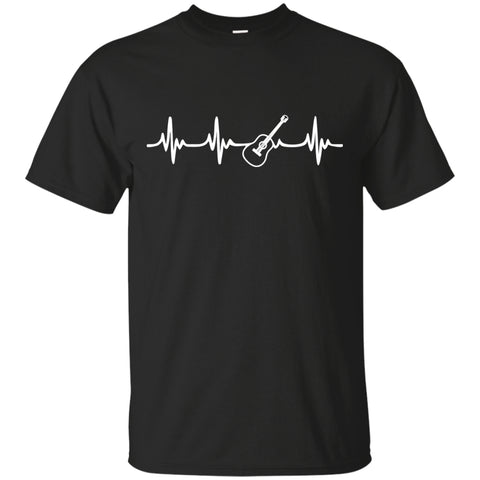 Acoustic Guitar Heartbeat T-Shirt - MainTune