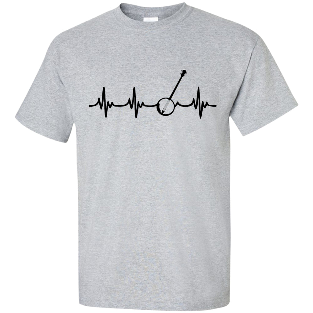 Banjo Heartbeat T-Shirt Black Logo - MainTune - 1