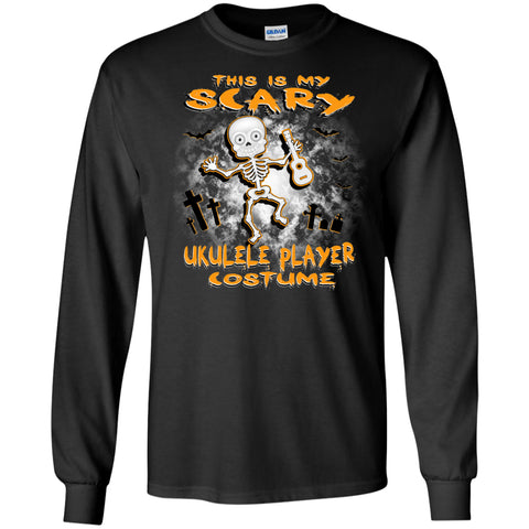 Scary Ukulele Costume Long Sleeve/Sweatshirt - MainTune - 1