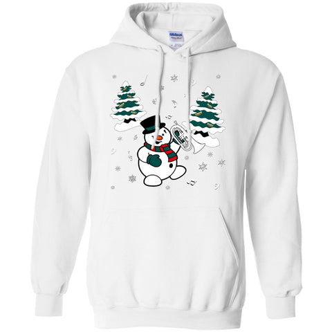 Snowman With Marching Baritone Hoodie
