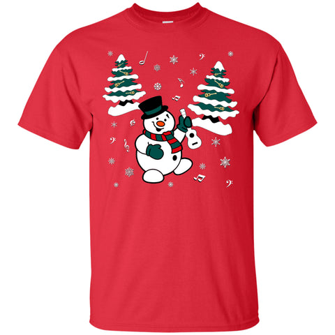 Snowman With Ukulele T-Shirt