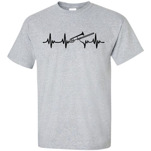 Trombone Heartbeat T-Shirt Black Logo - MainTune - 1