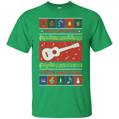 Ugly Christmas Ukulele T-Shirt