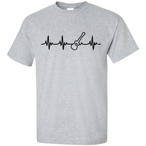 Ukulele Heartbeat T-Shirt Black Logo - MainTune - 1