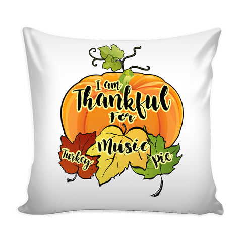 Thanksgiving Music Pillow Cover