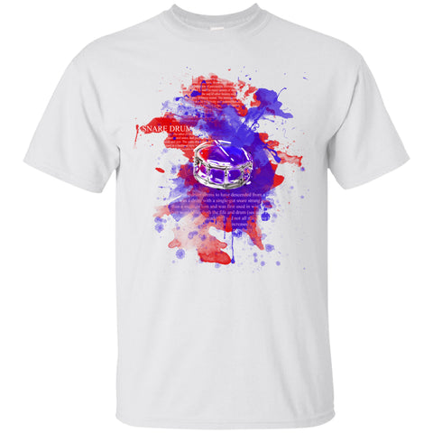 Color Snare Drum - White T-Shirt
