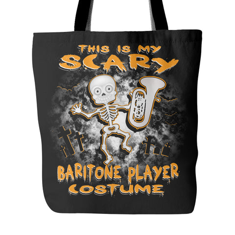 Scary Baritone Costume Tote Bag - MainTune