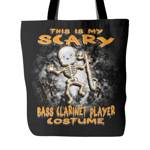 Scary Bass Clarinet Costume Tote Bag