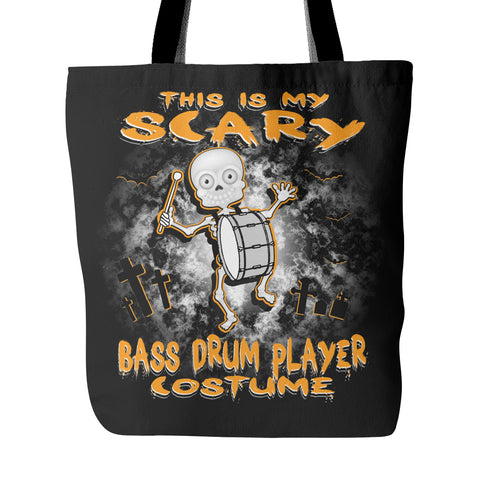 Scary Bass Drum Costume Tote Bag - MainTune