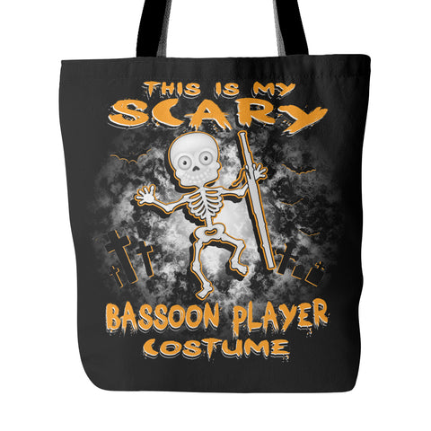 Scary Bassoon Costume Tote Bag - MainTune