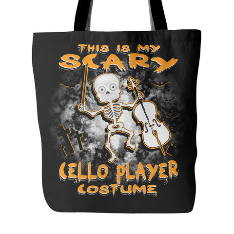 Scary Cello Costume Tote Bag
