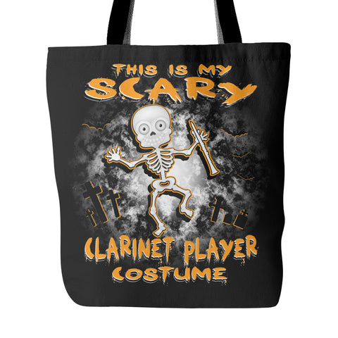 Scary Clarinet Costume Tote Bag - MainTune