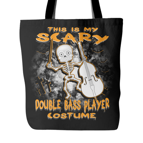 Scary Double Bass Costume Tote Bag