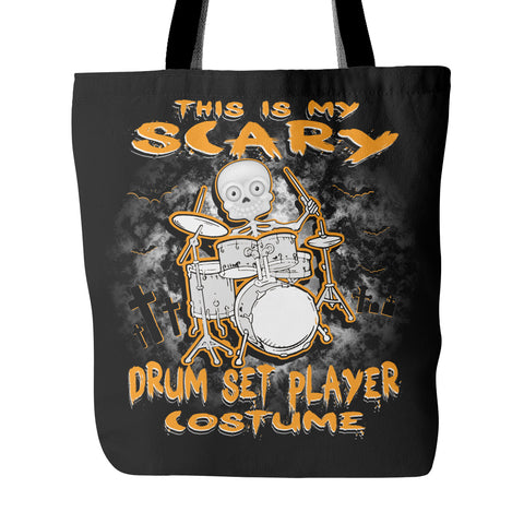 Scary Drum Set Costume Tote Bag
