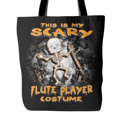 Scary Flute Costume Tote Bag - MainTune