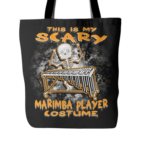 Scary Marimba Costume Tote Bag
