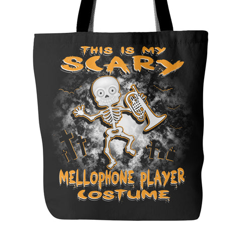 Scary Mellophone Costume Tote Bag - MainTune