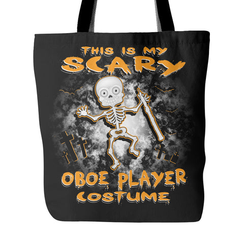 Scary Oboe Costume Tote Bag