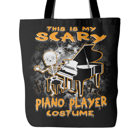 Scary Piano Costume Tote Bag