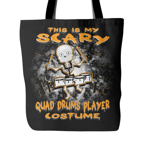Scary Quad Drums Costume Tote Bag