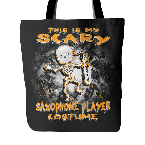 Scary Saxophone Costume Tote Bag - MainTune
