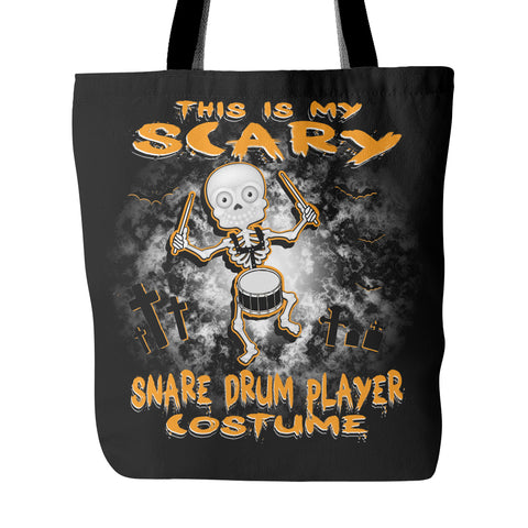 Scary Snare Drum Costume Tote Bag - MainTune