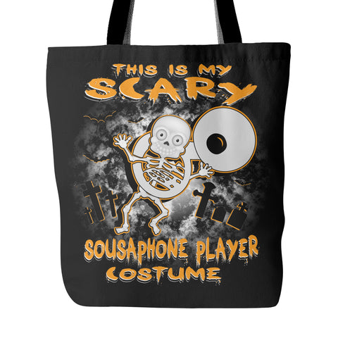 Scary Sousaphone Costume Tote Bag - MainTune