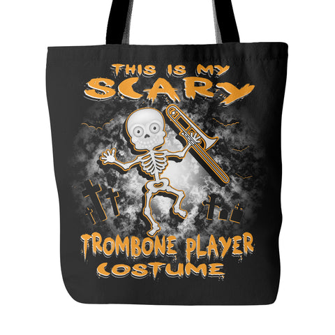 Scary Trombone Costume Tote Bag - MainTune