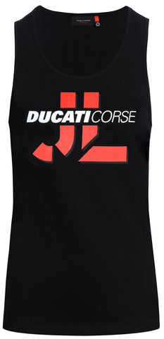 TOP Vest Womens T-Shirt Ducati Corse MotoGP Lorenzo 99 Ladies Bike Black NEW!