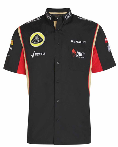 SHIRT ladies Formula One 1 Lotus F1 Team NEW Raceshirt Sponsor Black 2013