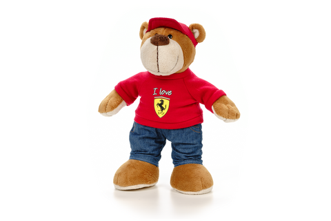 TEDDY Bear kids Formula One 1 Ferrari F1 Team NEW children TeddyBear Jeans Gift