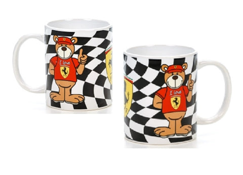 MUG Ferrari Racing Teddy NEW! Formula One 1 F1 Red & Yellow