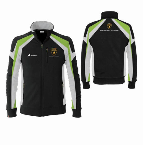 SWEATSHIRT Ladies Automobili Lamborghini Sportscar Women NEW Le Mans Black