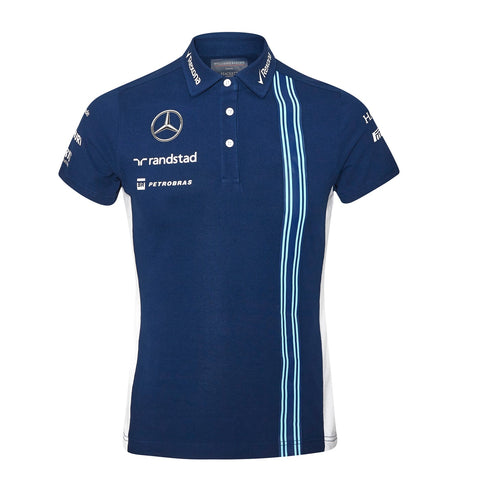 POLO ladies Williams Martini F1 Formula One 1 NEW! Mercedes BM Poloshirt Navy